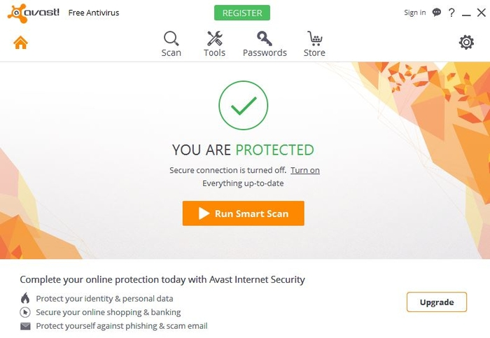 Protected Avast Free